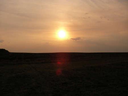 call of nature: calling darkly day decline evening haze heat heated landscape light morning nature steppe sun sunset