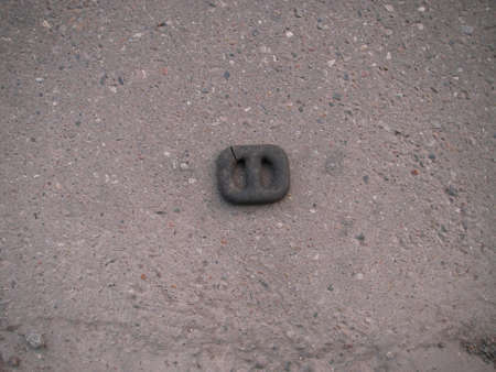 the thrown: The rubber detail thrown on the road from the car or a marsolet