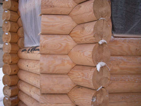 environmentally: Warm and environmentally friendly houses and constructions are built from the rounded logs