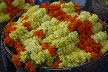 ritual: ritual wreaths from petals of fresh flowers