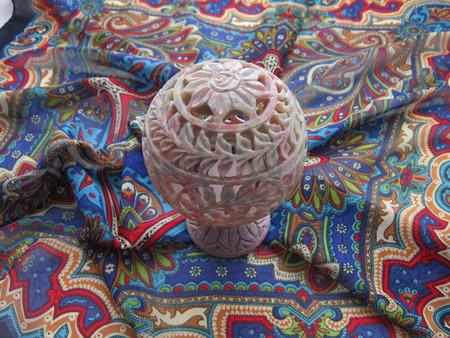 trabajo manual: piedra tallada de la lámpara del trabajo hecho a mano