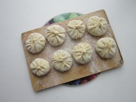 yeast: dough products without yeast with various stuffings