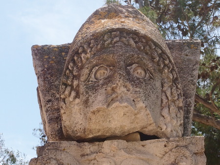 deity: The stone deity found in the territory of the destroyed Carthage in Tunisia