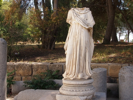place of interest: statue in ancient Carthage in the territory of modern Tunisia Stock Photo