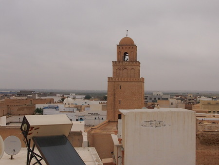 kairouan: The big cathedral mosque Ukba in Kairouan