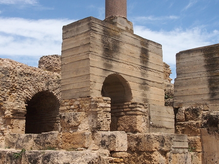 term: Ruins Anthonys term in ancient Carthage Stock Photo