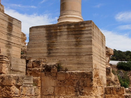 Ruins Anthonys term in ancient Carthage Stock Photo