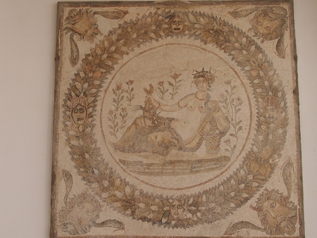 fertility goddess: the image of the goddess of fertility on a bas-relief of ancient Carthage