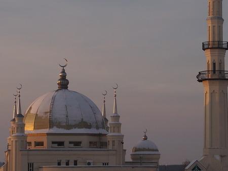mohammedan: View of the Muslim mosque in Tatarstan Stock Photo