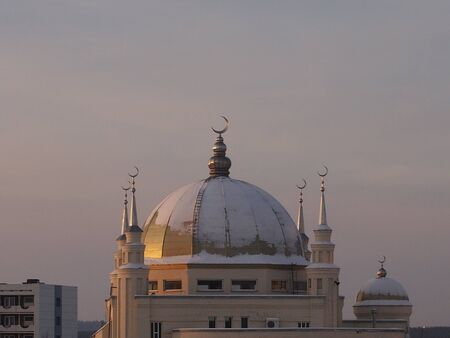 View of the Muslim mosque in Tatarstan Stock Photo