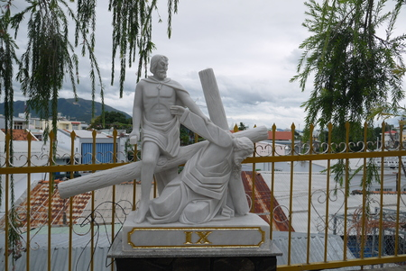 Sculpture from life and Jesus Christs death in the Cathedral in Nha Trang, Vietnam
