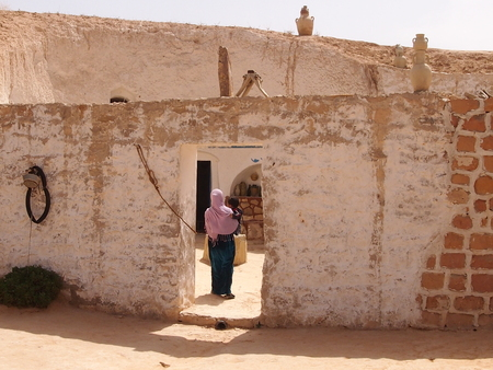 The ancient dwelling of berbers in the mountains of North Africa