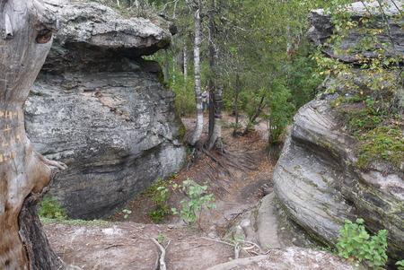 Landscape nature sanctuary The Stone City in Perm Krai