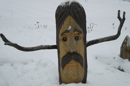 Wooden sculpture of the fairy tale character