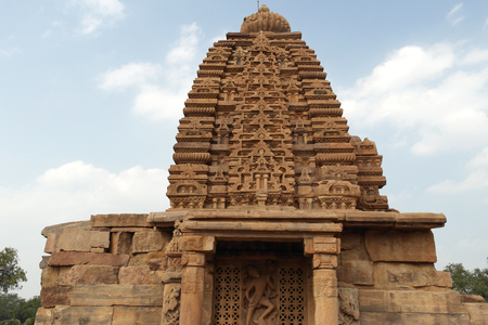 Group of temples in the city of Pattadakal in India Stock Photo