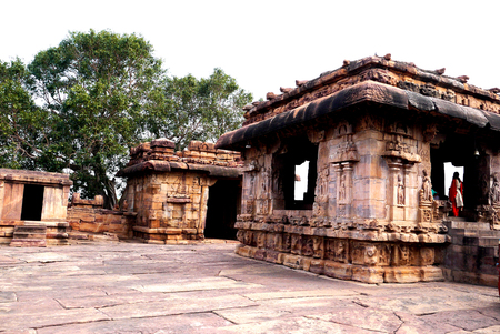 The Indian temples of Shiva in the village of Pattadakal in the State of Karnataka in India