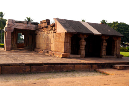 The Durga temple complex in the settlement of Aykhole of the State of Karnataka in India