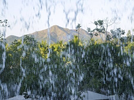 Powerful water flows are waterfalls and tropical showers Stock fotó