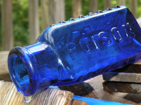 Blue Antique Bottle