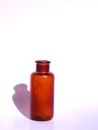 Brown Antique Medicine Bottle
