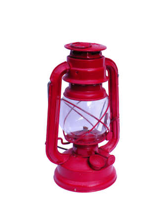 Red Lantern on white background