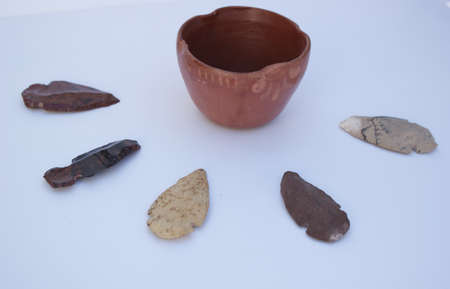 arrowheads: Clay Bowl and Arrowheads