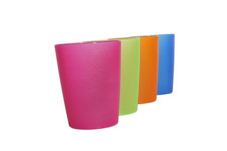 shallow dof: Four color glass ,shallow dof Stock Photo