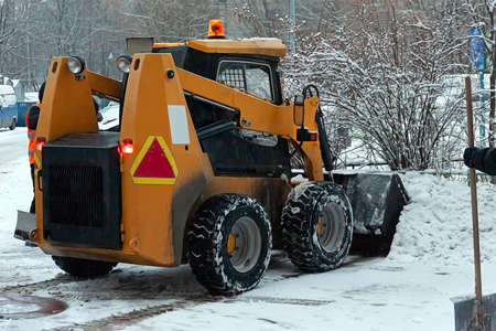 In the city of winter. Snow. All forces are thrown on snow removal. Special snowplows went to the streets to work. Problems of snow removal.