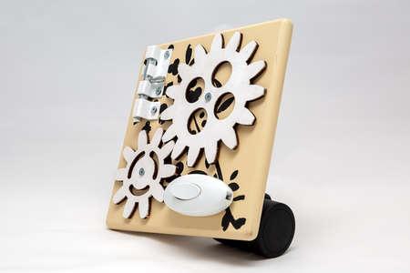 diy handmade board on white background. For children development. 写真素材