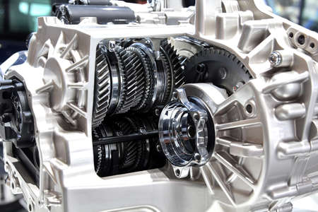 6 speed automatic robotic gearbox. internals, gears and friction clutches