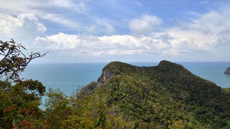 Top of view point on Vua Ta Lub Island. Ang Tong marine national park. Gulf of Thailand 版權商用圖片