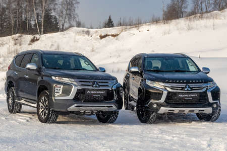 Moscow, Russia - February 17, 2021: All new Mitsubishi Pajero Sport. Restyling 21