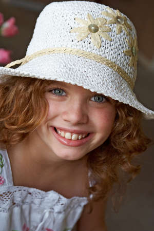 A cute 10 year old girl with a happy smile on her face. Stock Photo - 1620993