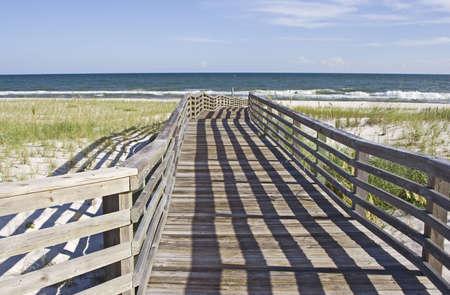 Boardwalk leading to the beach. photo