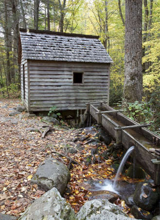grist mill: An old grist mill in the Tennessee mountains. Stock Photo