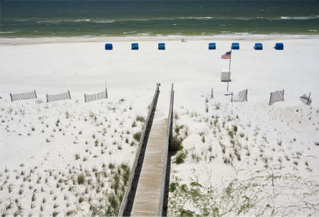 shores: A boardwalk leading to the beach in Gulf Shores