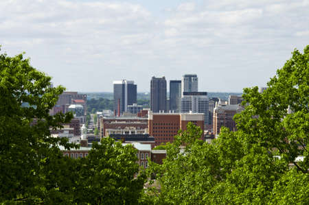 A view of the city of Birmingham Alabama.