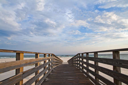 Scene of a walkway leading to the beach at Orange Beach AL. photo