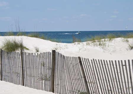 A beach scene on the Alabama Gulf Coast.