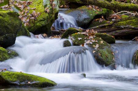 A stream flowing down a mountain. 版權商用圖片