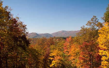 A colorful fall view of the mountains of Tennessee