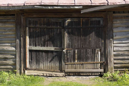 Old wooden gate photo