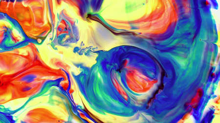 Abstract form from bubbling paint fusion in various shades