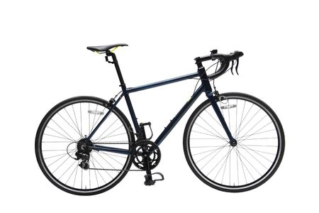 Isolated Gent Road Bike With Dark Frame in White Background