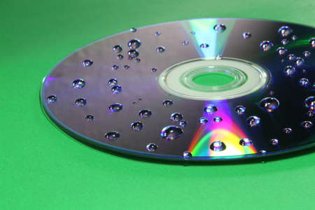 Water drops on CD