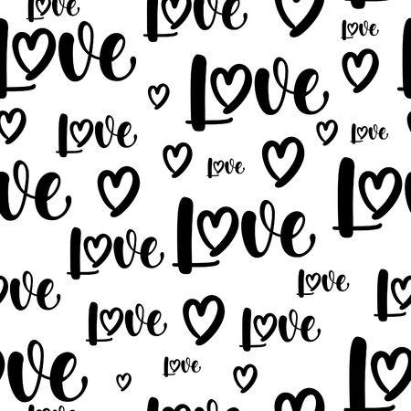 Love pattern calligraphy.