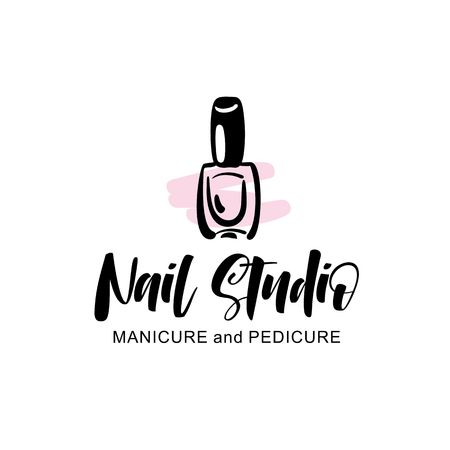 Nail studio logo Illustration