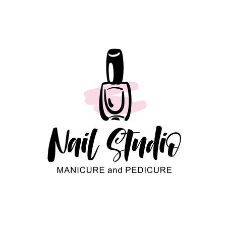 Nail studio logo Ilustração