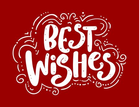 Best wishes lettering. Illustration