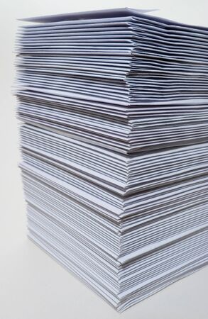 Huge stack of letters on white